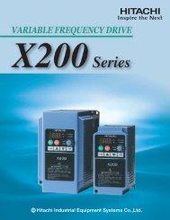 X200 Series Variable Frequency Drive - Hitachi America, Ltd.