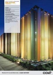 Fassadengestaltung an Bibliothek Dußlingen