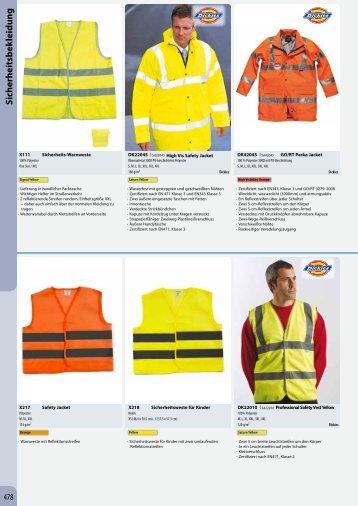 Sicherheitsbekleidung - Werbestudio Neustadt