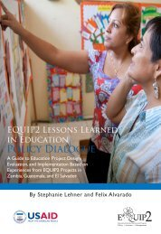 EQUIP2 Lessons Learned in Education: Policy Dialogue
