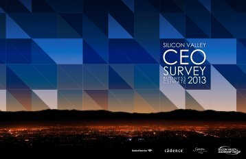 2013 CEO Business Climate Survey - Silicon Valley Leadership Group