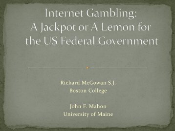 A Jackpot or A Lemon for the US Federal Government?