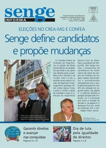 ELEIÇÕES NO CREA-MG E CONFEA - Senge-MG
