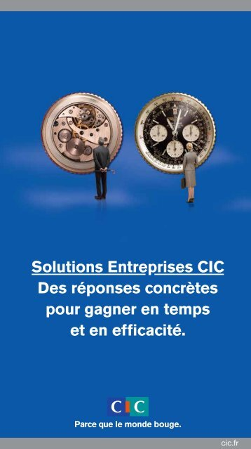 Télécharger la plaquette Solutions Entreprises CIC.