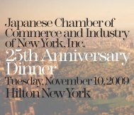 25thAnniversary - Japanese Chamber of Commerce and Industries