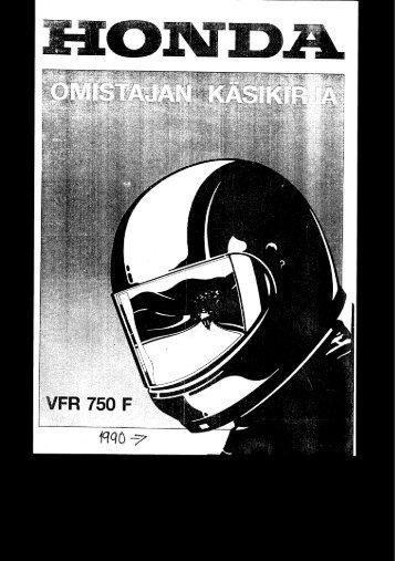 VFR750F 1990-1993 käsikirja (.pdf, 3.97 MB) - Honda