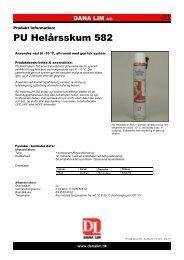 PU Helårsskum 582 - Dana Lim A/S