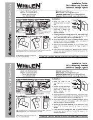 13970: SA314 Siren Speaker Mounting Bracket - Whelen Engineering