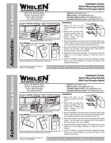 13970 sa314 siren speaker mounting bracket whelen engineering clarion cz100 wiring harness diagram clarion cz100 wiring diagram Clarion Car Stereo Wiring Diagram at gsmportal.co