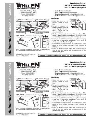 13970 sa314 siren speaker mounting bracket whelen engineering?quality=85 wiring diagram for the whelen sa314 wiring diagram at bayanpartner.co