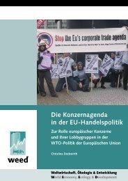 6. Stoppt die Konzernagenda in der EU-Handelspolitik!