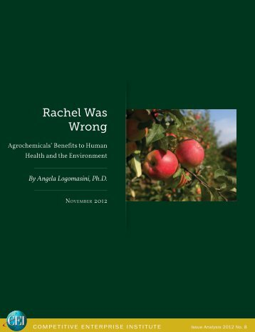 Angela Logomasini - Rachel Was Wrong
