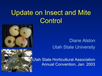 Update on Insect and Mite Control - Utahhort.org