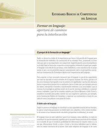 Estándares de Competencias en Lenguaje - Eduteka