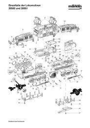 Einzelteile der Lokomotiven 39560 und 39561