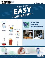 Download PDF of Filter Vial Overview - Thomson Instrument Company