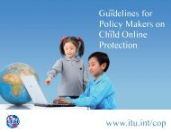 Guidelines for Policy-Makers on COP - ITU