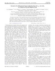 Towards a Two-Dimensional Superconducting State of La in a ...