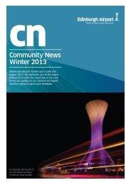cnCommunity News Winter 2013 - Edinburgh Airport