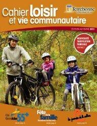 Cahier loisir et vie communautaire - Ville de Terrebonne