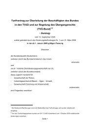 Tarifvertrag zur Überleitung der Beschäftigten des Bundes in den ...