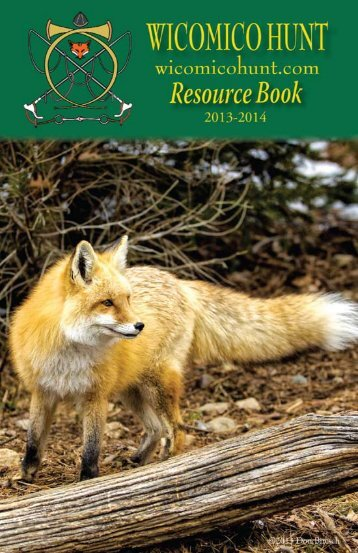 Click here for 2013 Resource Book - Wicomico Hunt