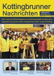 Das Team der VP Kottingbrunn und die Kandidaten für die Land ...