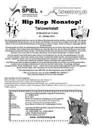 Hip Hop Nonstop! - Internationale Bildungsstätte Jugendhof ...