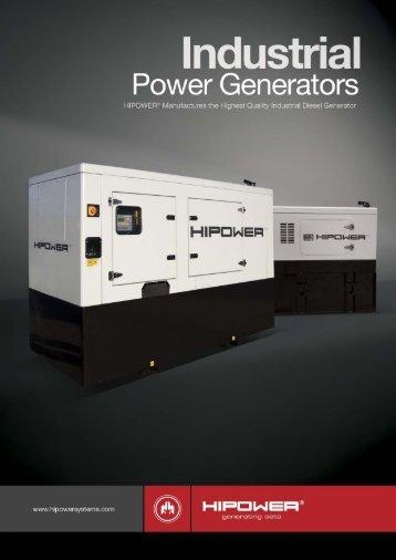 Industrial Power Brochure - Diesel Generator