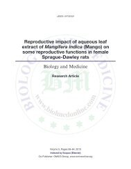 Reproductive impact of aqueous leaf extract of Mangifera indica ...