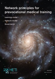 Network principles for prevocational medical training - HETI