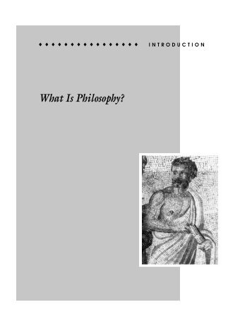 What Is Philosophy? - Philosophy and Religion