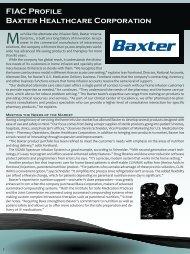 FIAC Profile Baxter Healthcare Corporation - NHIA