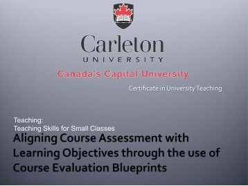 Teaching - Carleton University