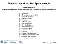 Messungen in der Medizin - Institut für Medizinische Statistik ...