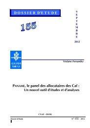 PANAME, le panel des allocataires des Caf : DOSSIER D'E ... - Caf.fr