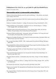 Publikationen Univ.-Prof. Dr. rer. pol. habil. Dr ... - Karl-Rudolf Korte
