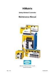 HIMatrix Maintenance Manual