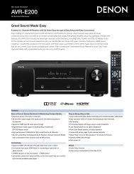 AVR-E200 - Audio General Inc.
