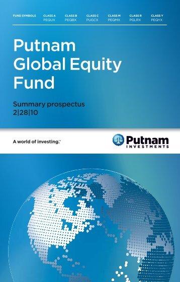 Putnam Global Equity Fund - Putnam Investments