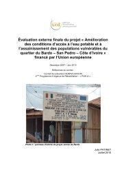 Evaluation du projet d'ACF - Groupe URD