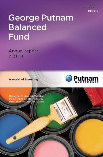 George Putnam Balanced Fund Annual Report - Putnam Investments
