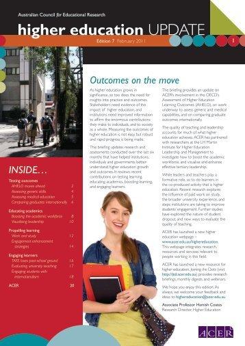 Australia: Higher Education Update - ACER