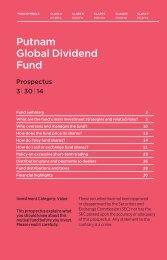 Global Dividend Statutory Prospectus - Putnam Investments