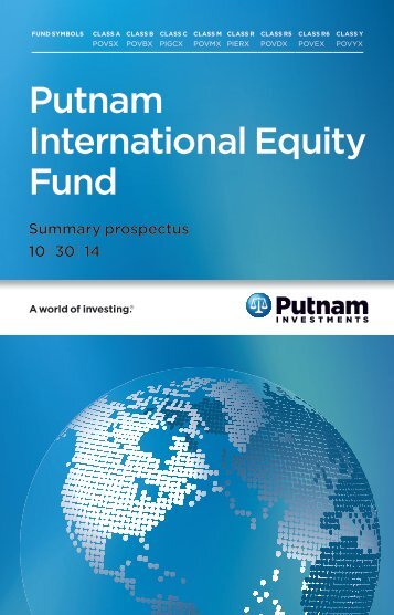 Putnam International Equity Fund - Transamerica Annuities