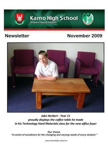 Newsletter November 2009 - Kamo High School