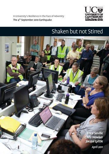 Shaken but not Stirred - University of Canterbury