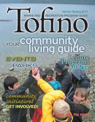 Tofino Parks & Recreation Program Guide - Winter/Spring 2011