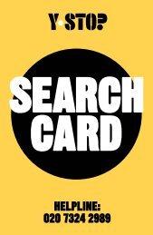 Y-STOP Search card