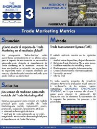 Trade Marketing Metrics - The Shopsumer Institute
